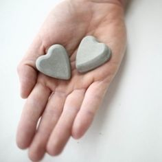 For your modern Valentine who rocks your world - DIY Concrete Hearts - step by strep tutorial.