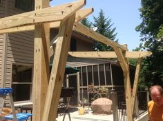 Cantilevered Pergola -- DIY Designed and Built