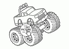 Monster Truck 4x4 Coloring Page For Kids Transportation Pages Printables Free