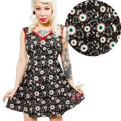 Aubrey - Batty Peepers Eyeball Dress