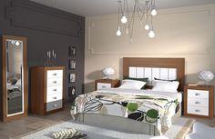 Dormitorio matrimonio con sinfonier nogal