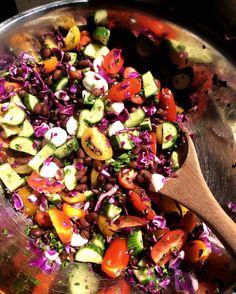 Salade plein  de couleur