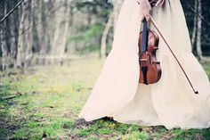 Beautiful Violin Portrait Photography By Cassandra Sasse Photography.