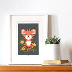 Affiche A4 Les Animignons le tigre (personnalisable)