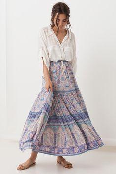 Lilac Poinciana Maxi Skirt – 8 Limbs Yoga and Boutique Printed Skirt Outfit, Pencil Skirt Outfits, Floral Print Skirt, Printed Skirts, Floral Skirts, Women's Fashion Dresses, Skirt Fashion, Boho Fashion, Fashion Styles
