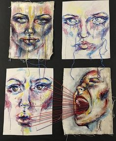Pin by bethan elsbury on mental health art искусство. A Level Art Sketchbook, Mental Health Art, Ap Drawing, Art Alevel, Identity Art, Wow Art, Sketchbook Inspiration, Art Themes, Process Art