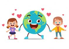 Discover thousands of Premium vectors available in AI and EPS formats 4 Kids, Diy For Kids, Cute Kids, Crafts For Kids, Earth Day Activities, Science Activities, Art Drawings For Kids, Drawing For Kids, Free Valentine Clip Art