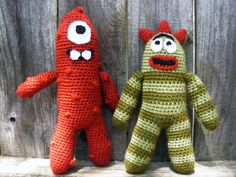 muno and brobee crochet/knit... Have to make these for me babies.