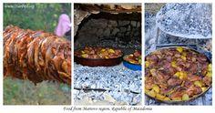 Traditional Food from Mariovo Region   Macedonia Postcards