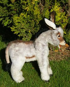 Vintage Steiff donkey.  View our website for more old Steiff animals and Steiff bears for sale.  www.oldteddybearshop.co.uk