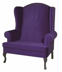 NEW Purple Oversized Wingback Santa Chair - 5' Tall Santa Chairs at Becker Group Holiday Decor