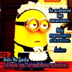 Se acabaron las #vacaciones y regresamos a la rutina #animo http://www.Facebook.com/TurismoEnVeracruzAventura #Veracruz