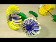 Paper flower from circles in origami style. 2019 Paper flower from circles in origami style. The post Paper flower from circles in origami style. 2019 appeared first on Paper ideas. Paper Flowers Craft, How To Make Paper Flowers, Giant Paper Flowers, Flower Crafts, Diy Flowers, Paper Flower Making, Origami Paper, Diy Paper, Paper Crafts