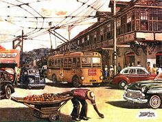 Port of Spain, Trinidad & Tobago The Trinidad Electricity Board operated the only trolleybus system in the West Indies and the only trolleybuses in the Western Hemisphere that ran on the left-hand side of two-way streets. The fleet consisted of 30 Ransomes – 14 acquired in 1941, 2 in 1942 and 14 in 1945. Port of Spain ran its first trolleybus on 1 October 1941 and its last on 31 December 1956.