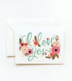Love the paper goods (especially the flower illustrations) from Rifle Paper Co.