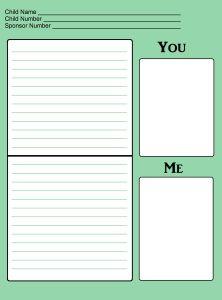 Sponsored Child Letter Template | Girl Crafts | Pinterest | Letter ...