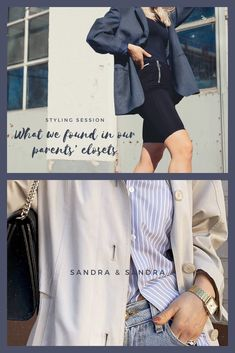 Styling session with what we found in our Parents' closets Denim Button Up, Button Up Shirts, Founded In, Styling Tips, Capsule Wardrobe, Closets, Sustainable Fashion, Scandinavian, Personal Style