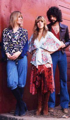 Christine McVie, Stevie Nicks and Lindsey Buckingham