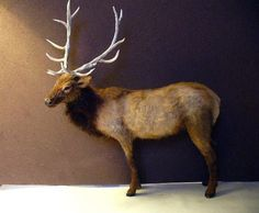 Would love to see this 1:12 scale elk emerging from the trees near my dollhouse log cabin