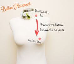 Genius tutorial from A Fashionable Stitch on optimal button placement to avoid gaposis ;)