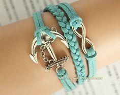 Anchor infinite bracelet