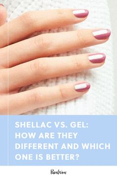 Let's discuss the key differences between shellac vs gel. Gel Vs Shellac, Shellac Manicure, Gel Nails, Nail Polish, Best Acrylic Nails, Acrylic Nail Designs, Damaged Nails, Date Night Makeup