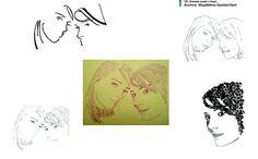 Taller de Diseño Grafico I. Autorretrato, sintesis tonal, lineal y tipografica. Magdalena Cacciavillani