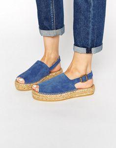 Park Lane | Park Lane Suede Flatform Espadrille Sandals at ASOS