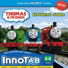 VTech InnoTab Software - Thomas & Friends by V Tech. $15.62. From the Manufacturer                In the new Thomas & Friends educational software title for the VTech InnoTab systems, your child can join their favorite trains in three learning games as they build skills in colors, reading, math, creativity, and more!  The e-book contains two different stories for your child to enjoy.  Your child can have added fun with the software cartridge's creative activities that allow your...