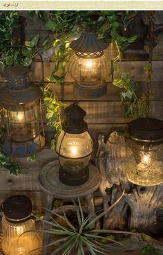 LEDカンテラ 高さ22cm /ランタン/LED/アンティーク/ランプ/オーナメント/インテリア/おしゃれ/ガーデン/ガーデニング/エクステリア/ Lantern Lamp, Candle Lanterns, Candles, Creation Deco, Outdoor Living, Outdoor Decor, Backyard Projects, Green Garden, Balcony Garden