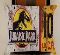 Jurassic Park License Plate Jeep Jurassic world pillow cases size 20x20 two side #Modern
