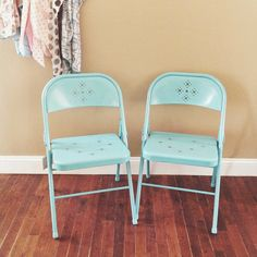 Colorful Metal Folding Chairs