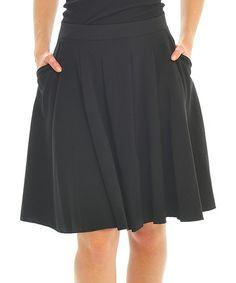 Look what I found on #zulily! Black Pleated Skirt #zulilyfinds