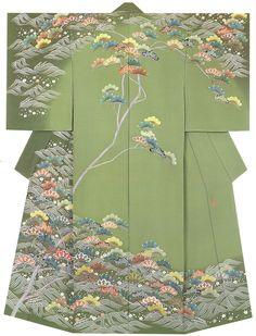 Kaga-Yuzen kimono Isshu Okuhara