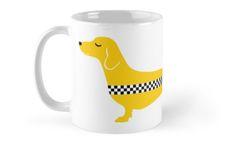 Dachshund Yellow Cab Mugs / by TsipiLevin