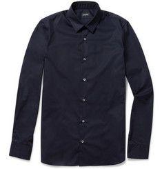 Jil Sander Slim-Fit Stretch Cotton-Poplin Shirt | MR PORTER