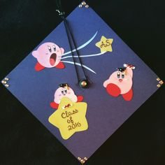 """Just like Kirby, I can do anything."" My graduation cap for getting my associate in science! #kirby #nintendo #grad #graduation #classof2016 #gradcap #graduationcap"
