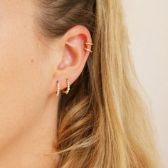 Small gold hoops tiny gold hoop earrings small hoop by SeolGold