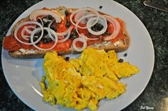 Lox, Cream Cheese, Capers, Sliced Onion, Toasted Acme Bakeshop Sourdough, Scrambled Eggs - Captain's Shack