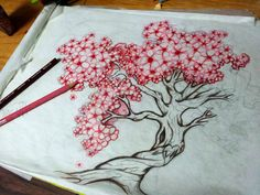This is the one. Cherry tree with big fat blossoms. Perfect to do tattoo cover up too.