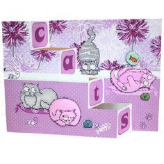 CS129D 'Catz' Clear set contains 12 stamps.Stamp Set designed by Sharon Bennett…