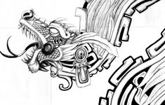 Interpretation of the Aztec feathered serpent god Quetzalcoatl. Possible tattoo … Interpretation of the Aztec feathered serpent god Quetzalcoatl. Possible tattoo … – Kunst Tattoos, Body Art Tattoos, Sleeve Tattoos, Tatoos, Diy Tattoo, Tattoo Pics, Tattoo Art, Quetzalcoatl Tattoo, Aztec Tattoo Designs