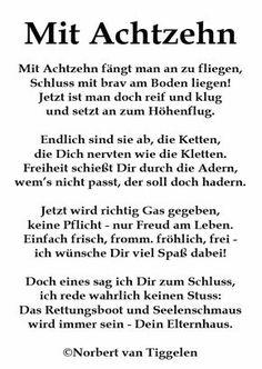Gedicht zum 18.Geburtstag