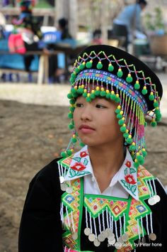 Girl from Hmong Village tribe in Laos