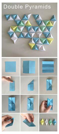 Origami Wall Art, Instruções Origami, Paper Crafts Origami, Diy Paper, Paper Crafting, Dollar Origami, Origami Ideas, Origami Bookmark, Origami Flowers