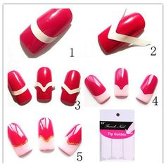 240PCS Portable Nail Art/ Fashion DIY Guides Stickers For Women Nail Stickers For Nails Tools Design Nail Art Stickers Manicure