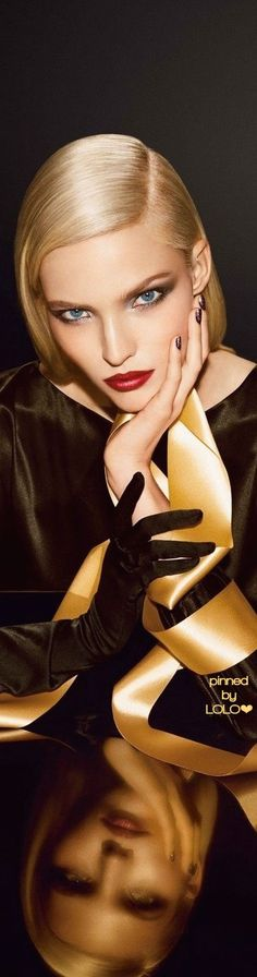 Sasha Luss for Dior Golden Shock | LOLO
