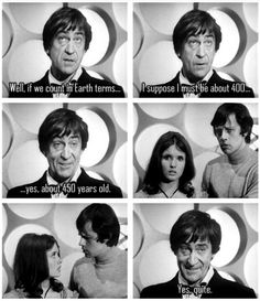Jamie and Victoria were surprised to find out the Doctor's age in Earth terms.