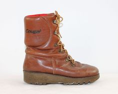 Cougar Boots - Size 7.5 - $38.00 USD #Cougar #Boots #Leather #Canadian #Rugged #Fleece
