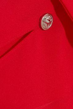 Versus Versace - Cutout Chiffon Shirt - Red - IT40